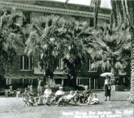 photo of hotel and patrons